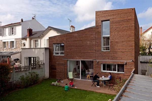 croixmariebourdon architectures - Maison L'aventure intérieure - Côté jardin