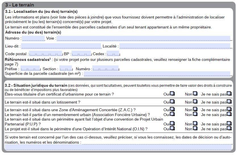 Cadre 3 - Formulaire CERFA 13406-07