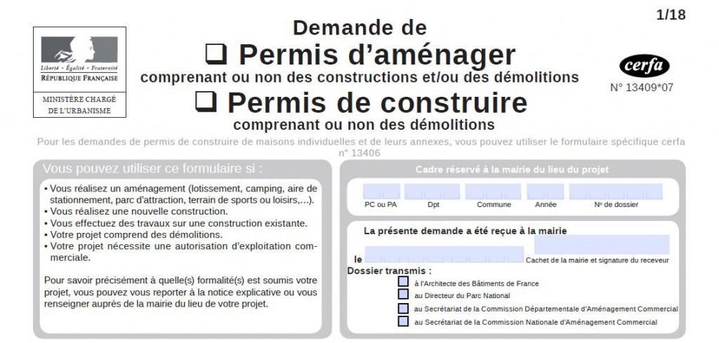 Formulaire CERFA 13409-07