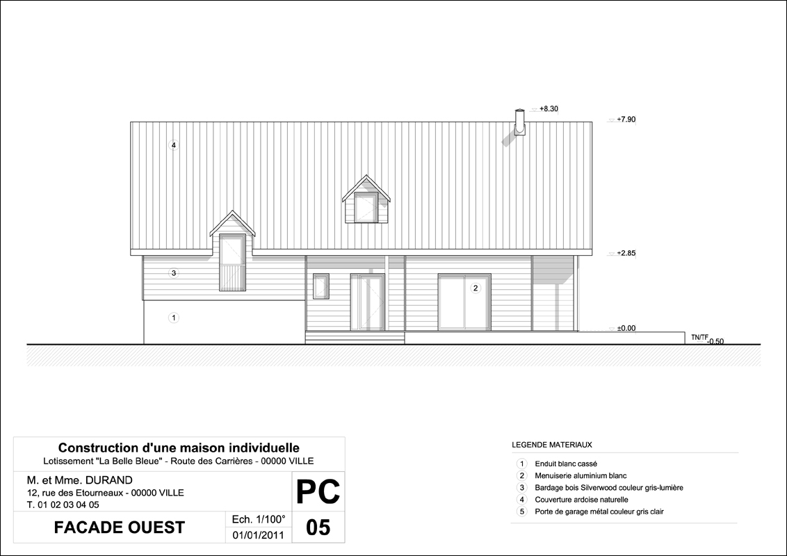 Amazing Pcmi Insertion Graphique With Exemple De Facade De Maison