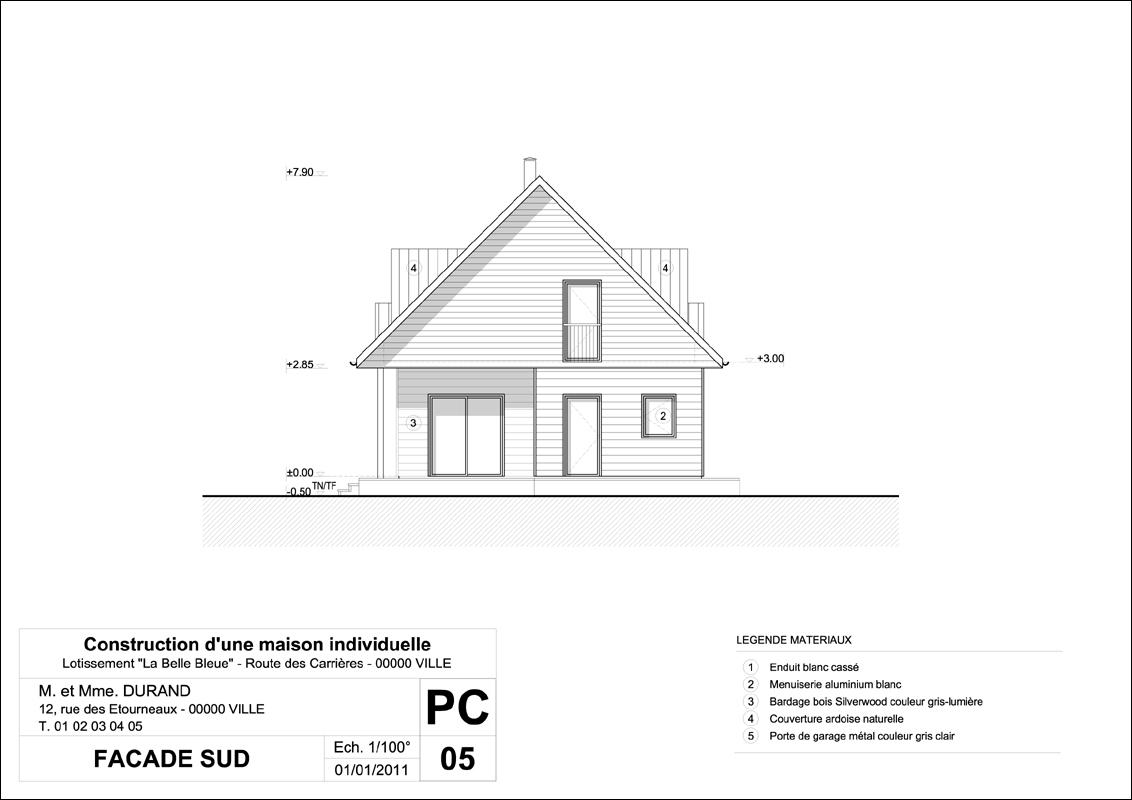 Exemple permis de construire mod le permis de construire for Un cartouche architecture
