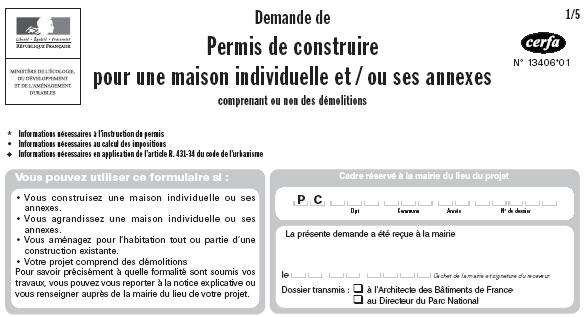 Demande permis de construire maison individuelle 2017 for Permis de construire delais